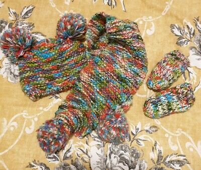 Girls Next Hat Scarf and Gloves Set 1-2 Years