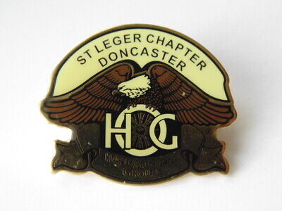 HARLEY-DAVIDSON PINS BADGE COLLECTOR  HOG St LEGER CHAPTER DONCASTER
