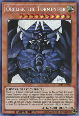 Yu-Gi-Oh! x3 Obelisk the Tormentor (alternate art) - TN19-EN007 - Prismatic Secr