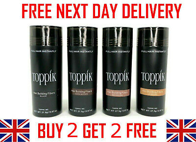 TOPPIK Hair Building Fibers 27.5g - Buy 3 Get 1 Free - FREE NEXT DAY DELIVERY