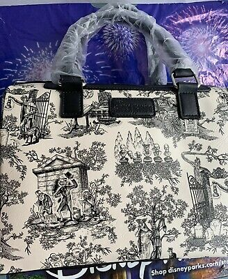 ❤️ Nwt Disney Parks Haunted Mansion Toile Satchel Hitchhiking Ghosts Purse Bag