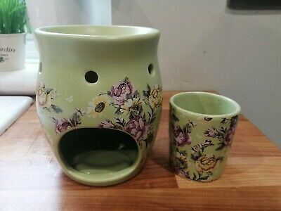 Yankee Candle Wax Burner And Candle Holder
