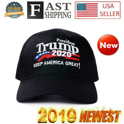 Donald Trump 2020 Hat Keep Make America Great Again Embroidered Hat Black KAG US