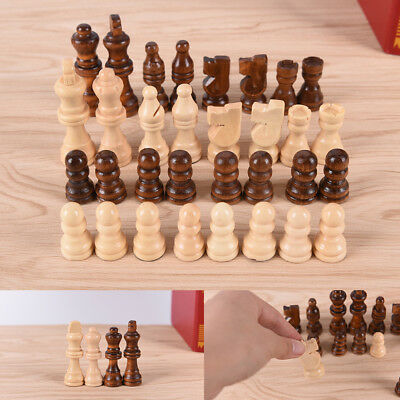 32pcs/set wooden chess King high 64cm total weight 140g entertainment games MO
