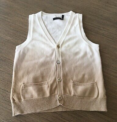 IKKS Boy's Knitted Vest Size 4 - Perfect Condition