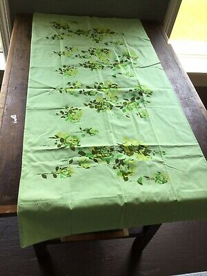 Vintage Sears King Pillowcases Green Floral Rose Pair *Read Desc* Percale