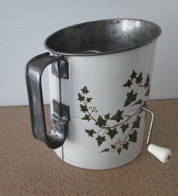 Vintage Retro Ivy Print Willow Australia Flour Sifter Retro Sieve Kitchen