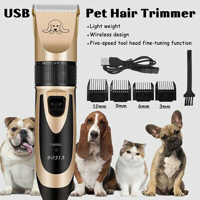 Pet Hair Clipper Grooming Electric Trimmer Shaver Comb Rechargeable Dog Cat
