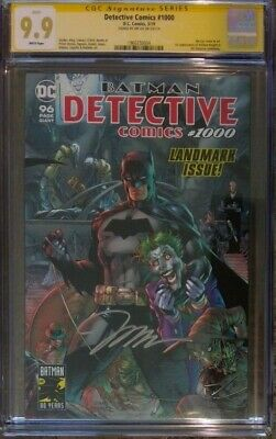 Detective Comics #1000__CGC 9.9 MINT SS__Signed by Jim Lee