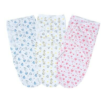 Baby100% organic cotton swaddle for Newborn 0-3 months old boy and girl 3packs