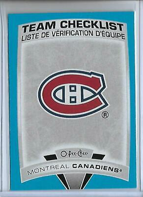 19-20 O-Pee-Chee Blue Border Parallel Team Checklist - Montreal Canadiens #566