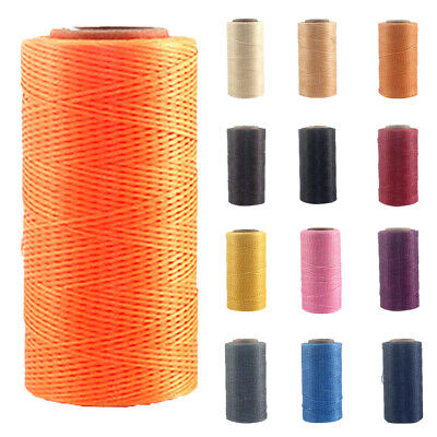 260m x1mm Waxed Polyester Thread Cord Beading Macrame String Bracelet Necklace