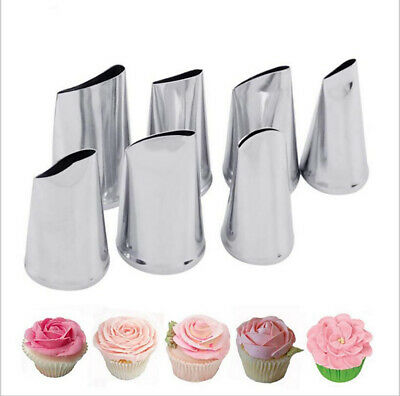 Icing Piping Nozzle Cake Decorating Tool Stainless Steel For Cakes 7pcs/set