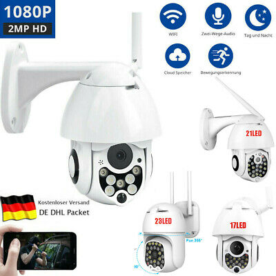 1080P 2MP WIFI IP Camera Wireless Outdoor CCTV HD Security IR Cam Dome IP66 Neu