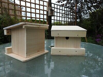 Ready made Doormouse shelter box home for wild doormice with hole in the back