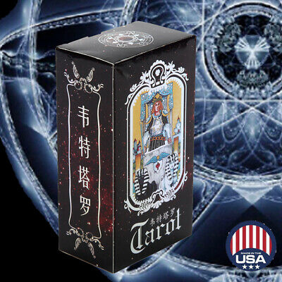 78 Cards Witch Tarot Deck Future Fate Indicator Forecasting Cards Table Game