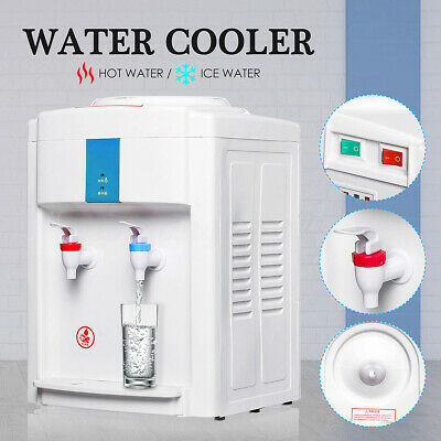 AU Electric Mini Hot & Ice Water Cooler Dispenser Table Top 3-5 Gallon Household