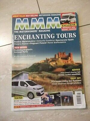 MMM Motorhome Magazine Dated November 2018