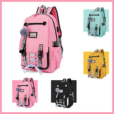 Anti Theft Backpack Large School Bags USB with Lock for Teenage Girls Women