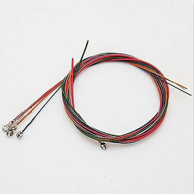 Perfect 6Pcs Steel Rainbow Colorful Steel Strings for Acoustic Guitar Seraphic