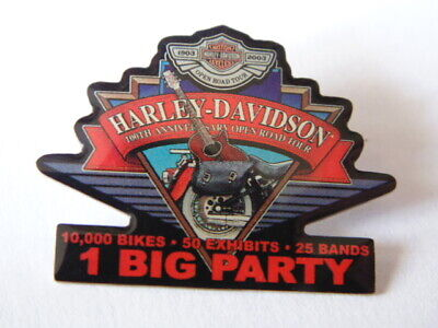 Harley-Davidson : Pins Collector 1903-2003 1 Big Party