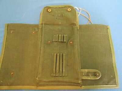 Antique WW2 British Army Map Case, Artillery Map Ruler 1940s