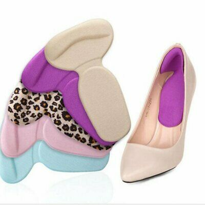 2PC Silicone Shoe Back High Heel Inserts Insoles Gel Pad Cushion Grip Liner Foot