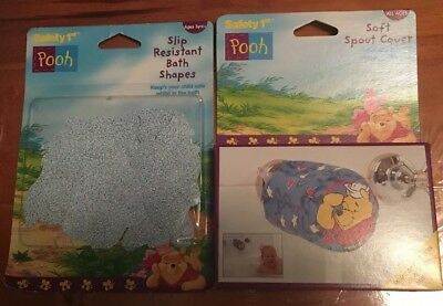 Safety 1st Winnie The Pooh Soft Tap Spout Cover & Slip Resistant Bath Stickers