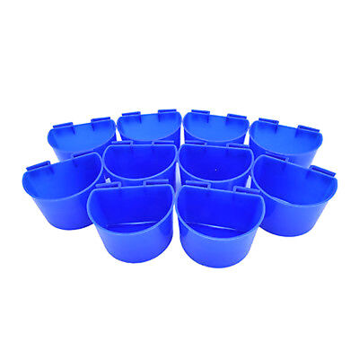10pcs Cup Hanging Water Feed Cage Cups Poultry Rabbit Chicken UK