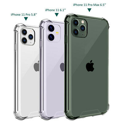 Clear Case For iPhone 11 Pro Max Bumper Heavy Duty Drop Protective Hard PC Skin