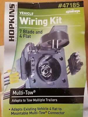 NEW Hopkins Towing Solutions Vehicle Wiring Kit 47185 7 blade 4 flat multi tow