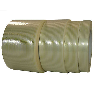 Glasfaser Filament Klebeband 38-50-75mm x 50m Gewebeband transparent