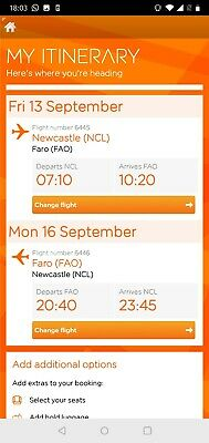 Flight tickets (Newcastle-Faro)
