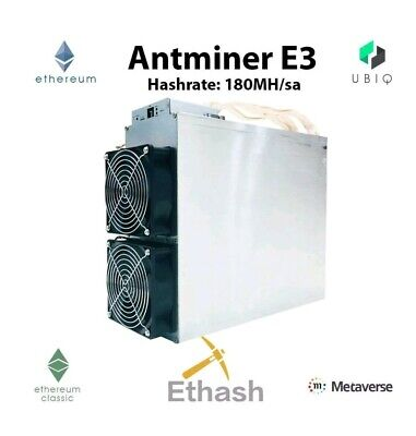 NEW! AntMiner E3 Ethereum Mining Rig 190MHs 800w