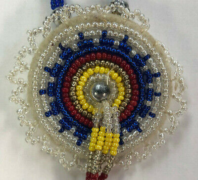 Hand Beaded Medallion Necklace - Lakota Sioux of SD - Native American