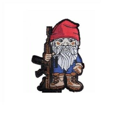 BuckUp Tactical Morale Patch VELCRO® BRAND Hook Gnome Rifle Full Color 2.5""