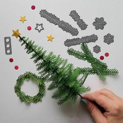 CUTTING DIES*TREE*WREATH*Christmas*Scrapbook*Cards*Topper