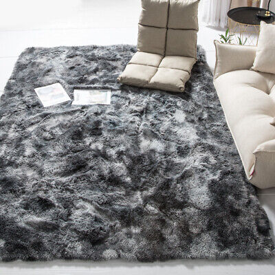 ✅Fluffy Shaggy Rugs Floor Carpet Bedroom Soft Warm Area Rug Art Large Home Mats