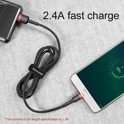 Long Braided Micro USB Cable 3 m High Speed Data Sync Fast Charger Charging Lead