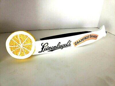Leinenkugel Grapefruit Shandy Beer Tap Handle GUC Canoe Draft Keg Pull 14""
