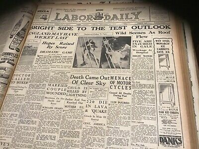 Old newspaper December 22 1936 Ashes cricket Fred Henneberry boxing racing
