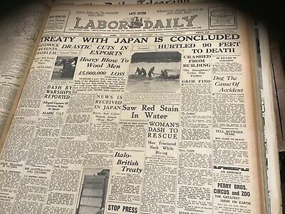 Old newspaper December 28 1936 Wool treaty signed with Japan Cricket movie ads