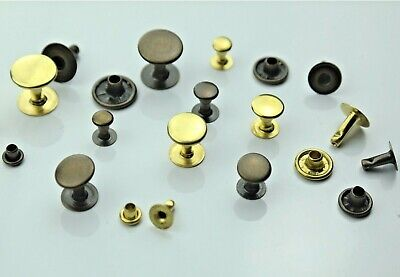 Hollow Rivets Single Head, without Rust, Brass, 6mm,7mm, 9mm,10mm,13mm Black,