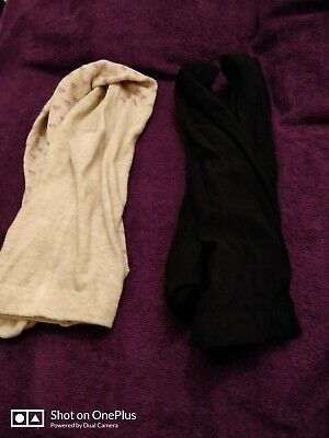 2 pairs of lovely girls tights age 7-8yrs