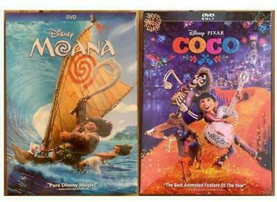100% New MOANA And COCO 2dvd sets