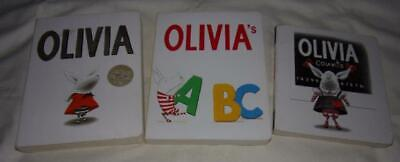Set of 3 Olivia board books by Ian Falconer