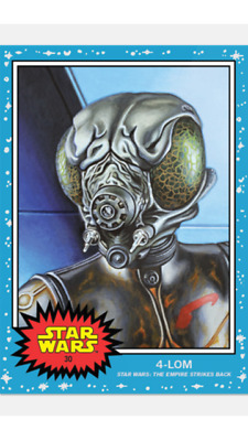 Topps Star Wars Living Set Card 4-Lom #30 Star Wars : The Empire Strikes Back