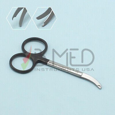 "OR Grade Shortbent Stitch Suture Scissors 3.5"" Curved Supercut Ligature Delicate"