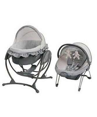 Graco Baby Soothing System Glider, Bouncer Bassinet, Glider Swing. Free Post