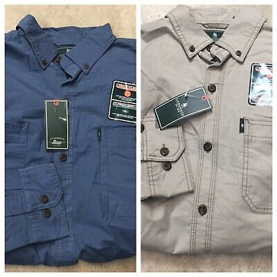 Mens Summit Creek Long Sleeve Button Down Twill Shirt Bass /& Co G.H